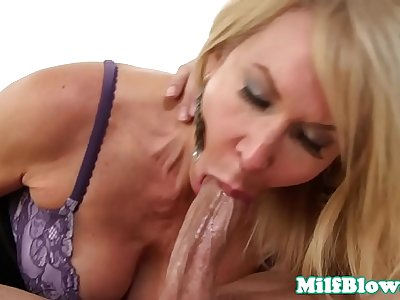 Cocksucking mature facefucked until facial