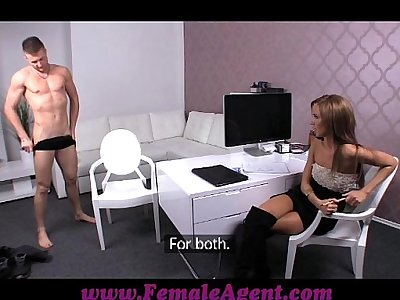 FemaleAgent Stud can fuck but can he finish