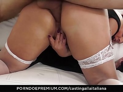CASTING ALLA ITALIANA - Anal audition with hot Barbara Gandalf and Omar Galanti