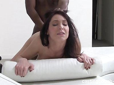 Mature reserved Brunette fucks on video - first time