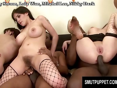 Smut Puppet - Interracial Orgy Compilation Part 1