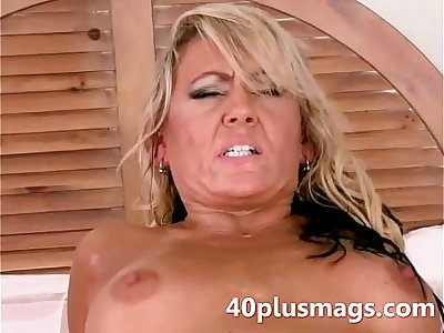 Divorced blonde Milf goes anal
