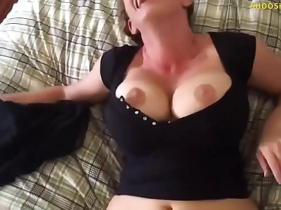 Milf sucks and fucks young stud