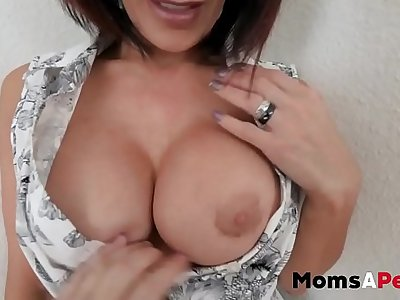 MomsAperv-Mom takes care of son in special therapy session