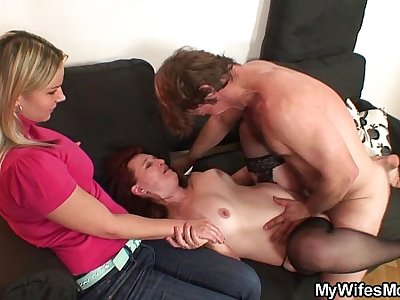 She watches her mom and husband fucking